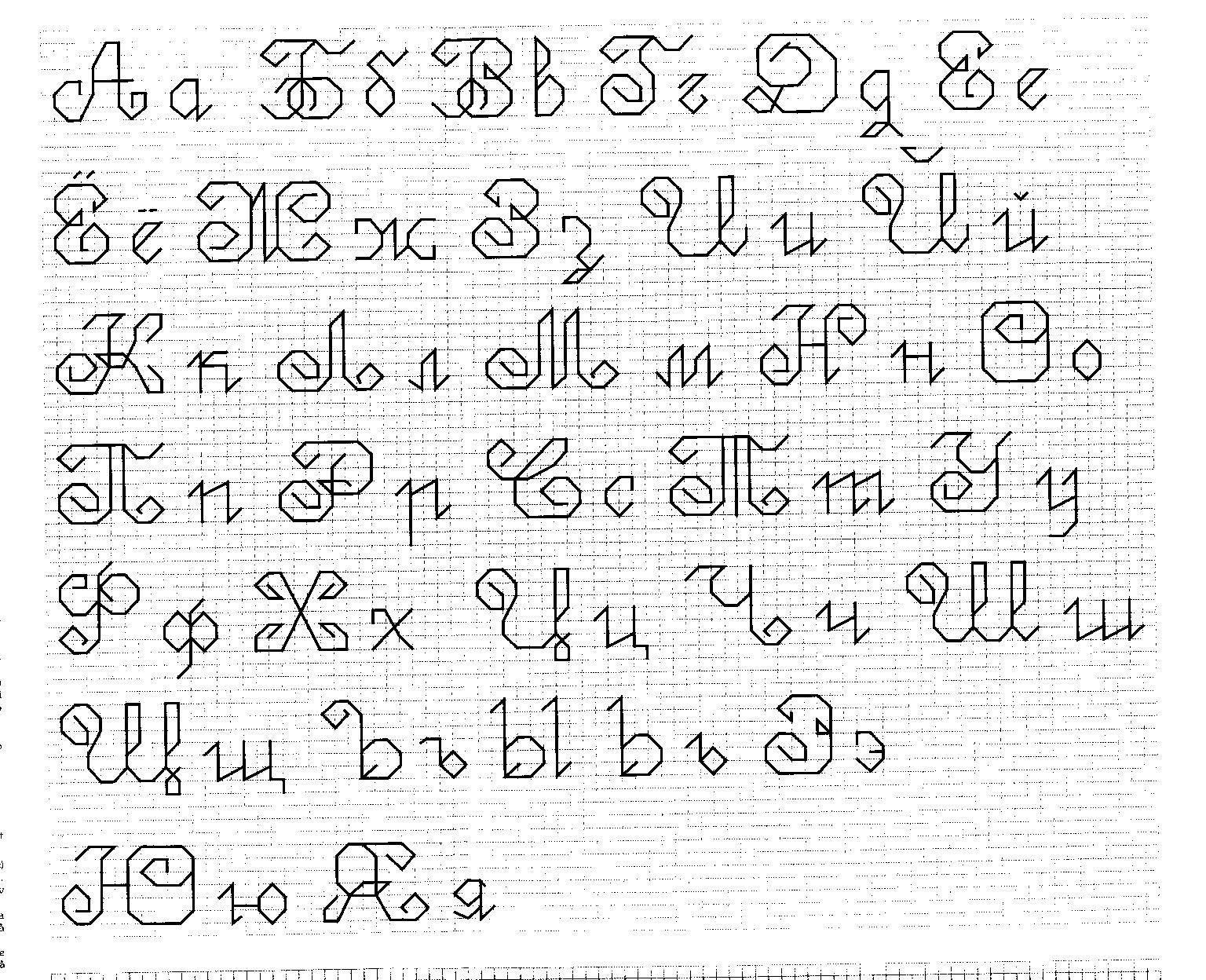 Вышивка гладью алфавит русский схемы