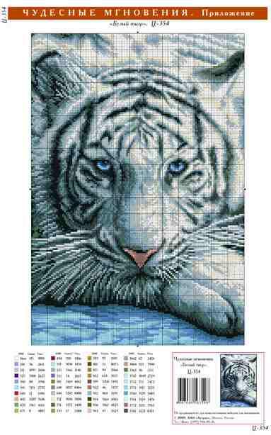 Вот такого. Белый тигр